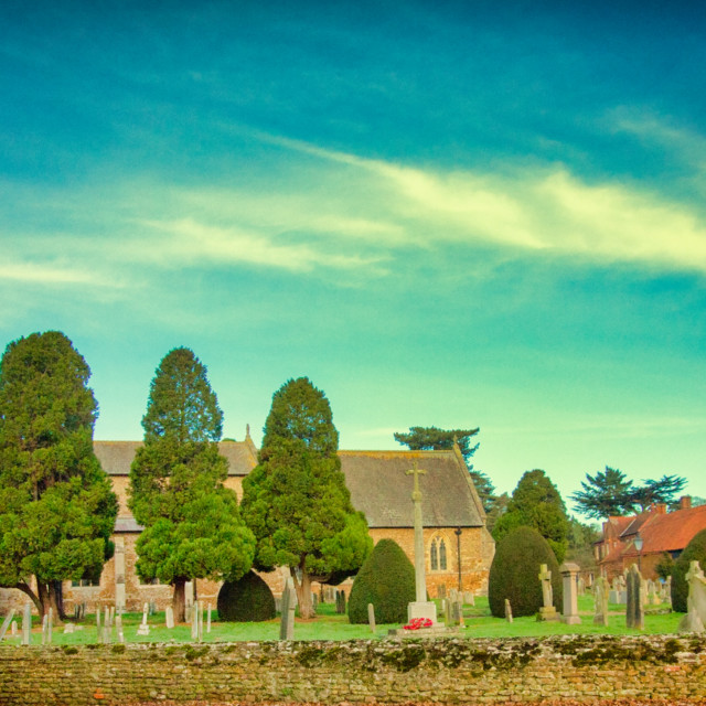 """St. Nicholas Church Dersingham Norfolk"" stock image"