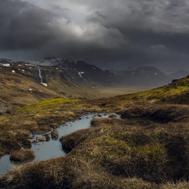 """FR Iceland Highway"" stock image"