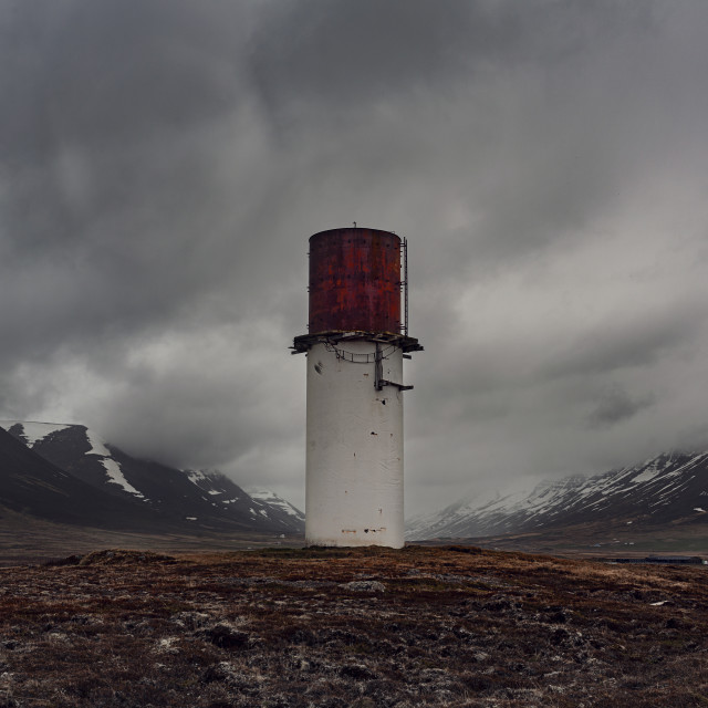 """""""FR Iceland Watch Tower"""" stock image"""