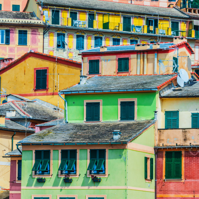 """Architecture of Camogli on the Italian Riviera"" stock image"