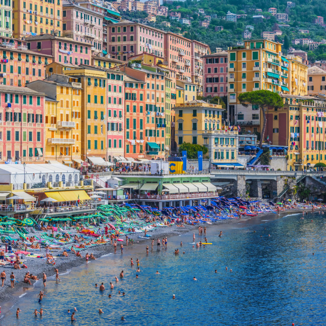"""The tourist resort of Camogli on the Italian Riviera"" stock image"