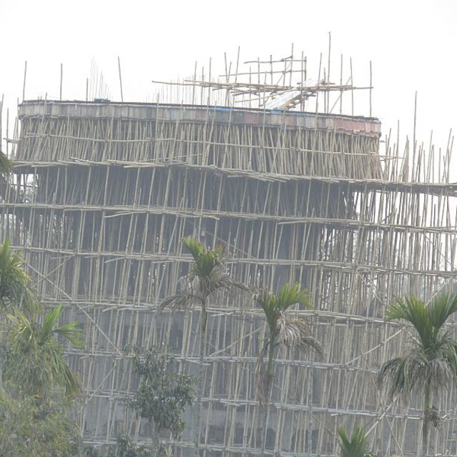 """Indian scaffolding"" stock image"