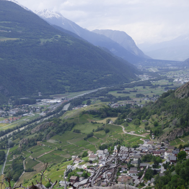 """The upper Rhone valley"" stock image"