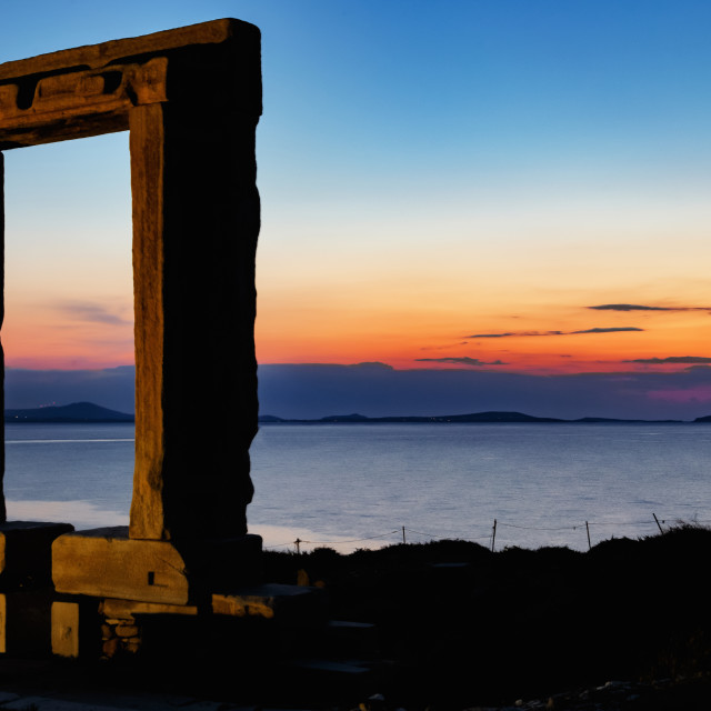 """""""Door of the temple of Apollon."""" stock image"""