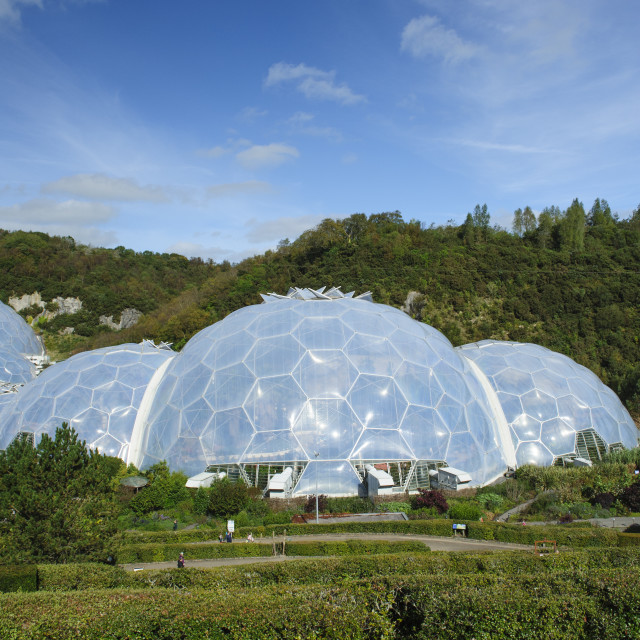 """Biome at the Eden Project, Cornwall"" stock image"