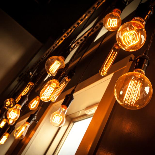 """Hanging Lights 2"" stock image"