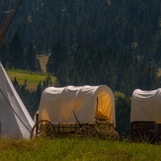 """Mountain Camp"" stock image"