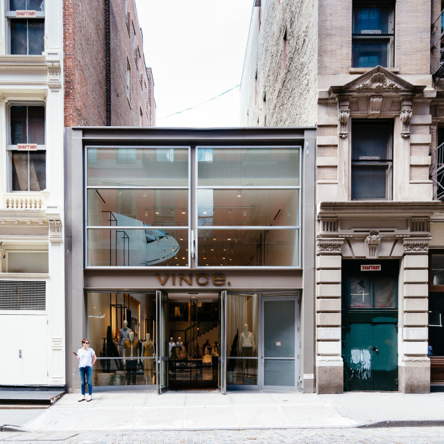 """Luxury fashion storefront in Soho in New York"" stock image"