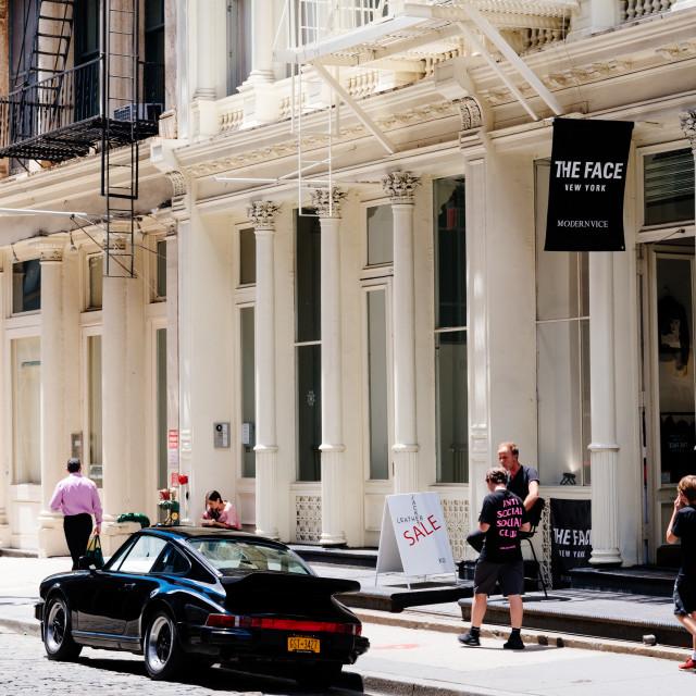 """Luxury fashion storefront in Soho in New York"" stock image"