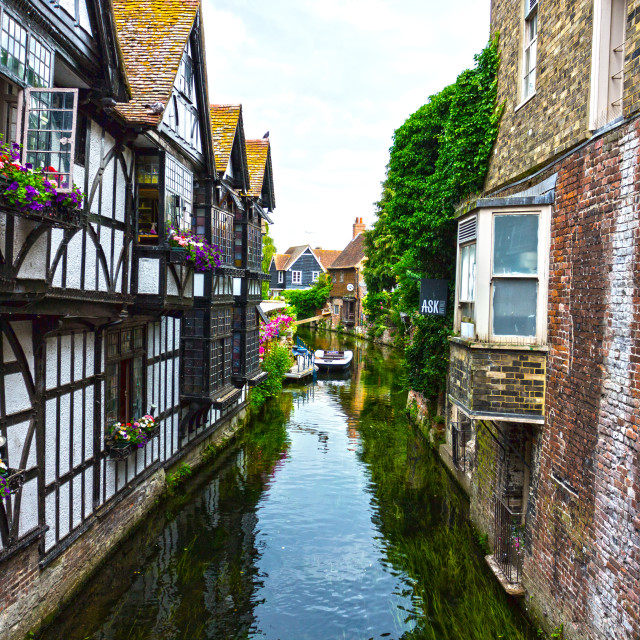 """The River Stour at the Weavers, Canterbury, Kent"" stock image"