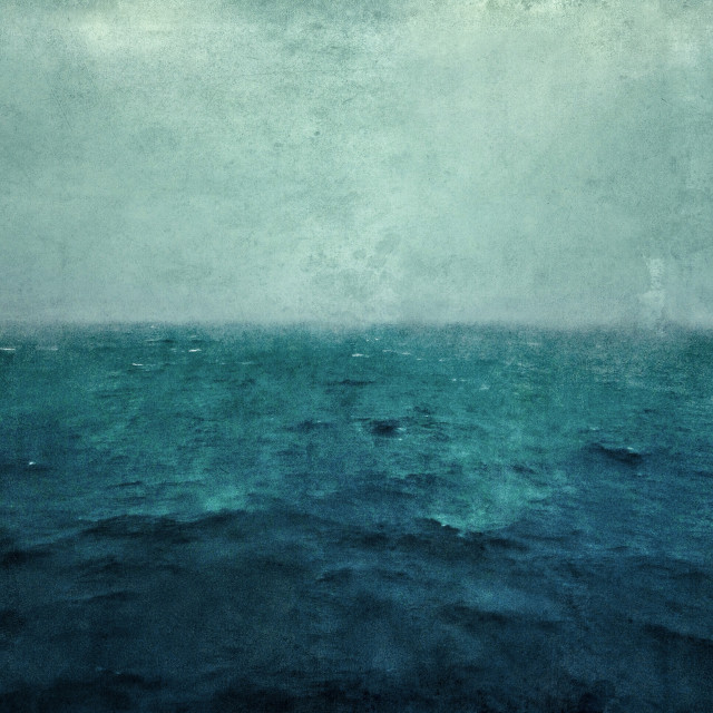 """""""A painterly seascape"""" stock image"""