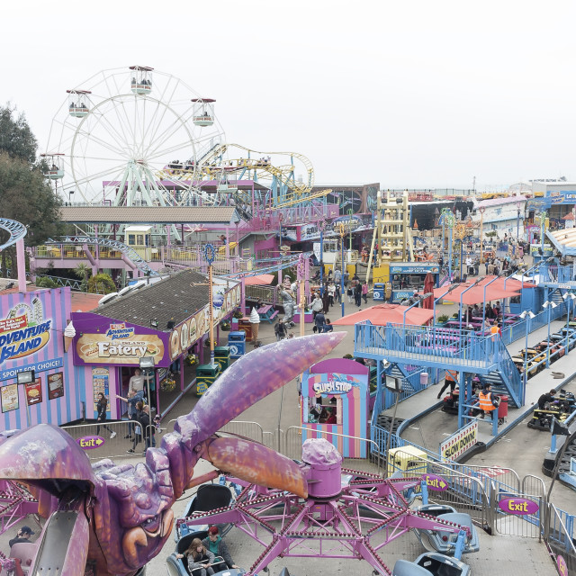 """Southend Funfair"" stock image"