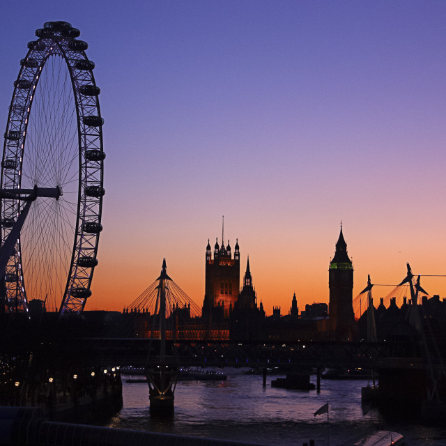 """London Skyline Sunset"" stock image"