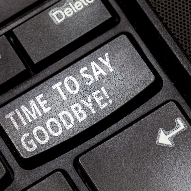 """""""Handwriting text Time To Say Goodbye. Concept meaning Separation Moment..."""" stock image"""