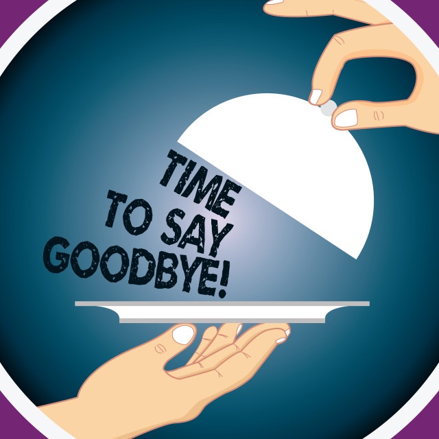 """""""Conceptual hand writing showing Time To Say Goodbye. Business photo text..."""" stock image"""