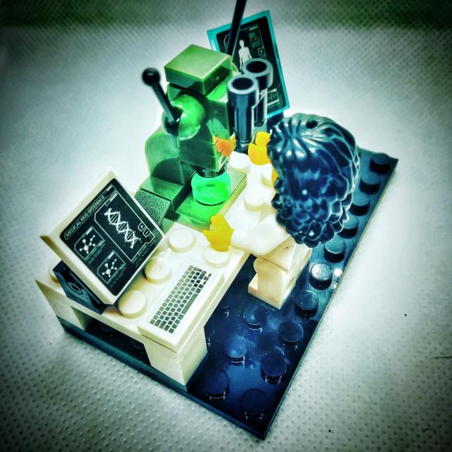 """Under the microscope"" stock image"
