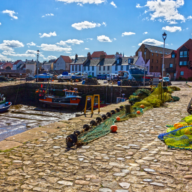 """Cromwell Harbour, Dunbar"" stock image"