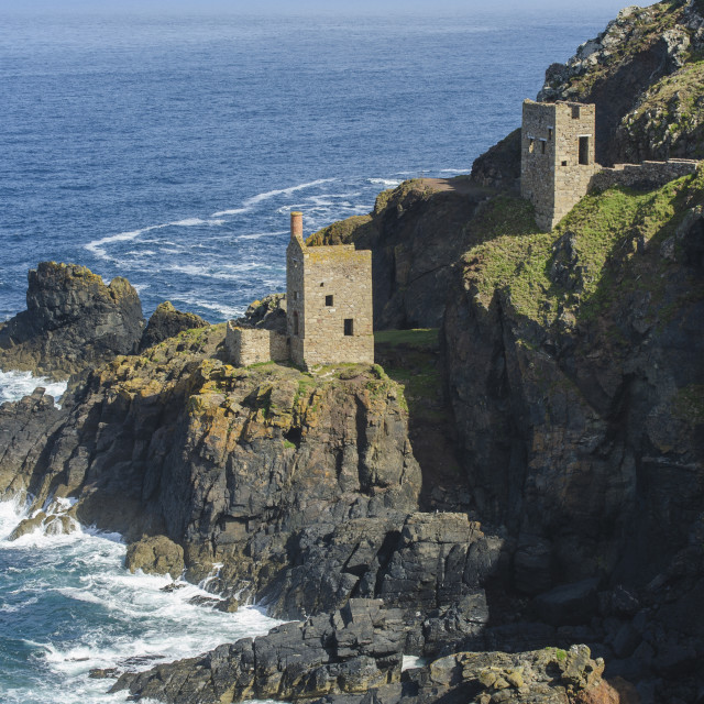 """Crowns Engine House, Botallack, Cornwall"" stock image"