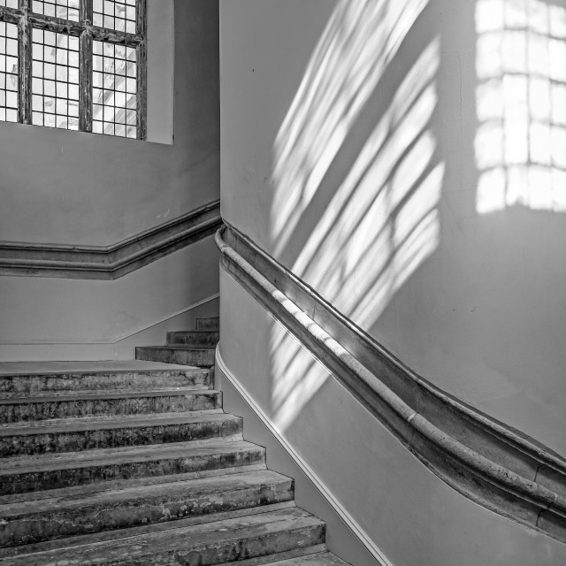"""Shadows on the stairs"" stock image"