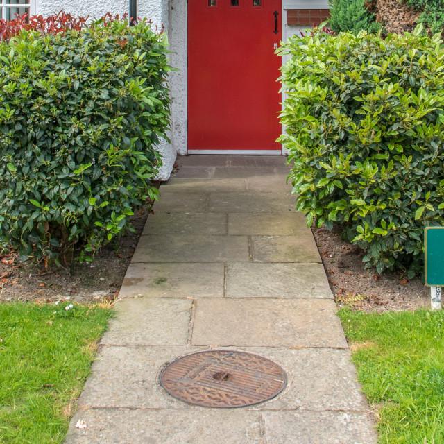 """""""Red Door - Port Sunlight"""" stock image"""