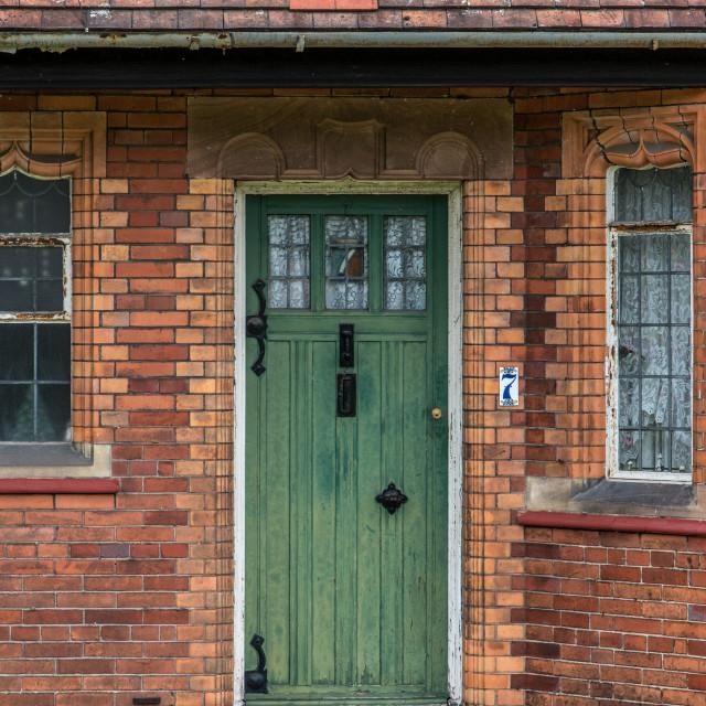 """""""Green door - Port Sunlight"""" stock image"""
