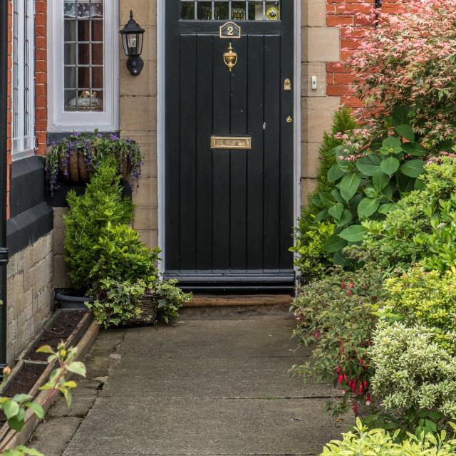 """""""Black Door - Port Sunlight"""" stock image"""
