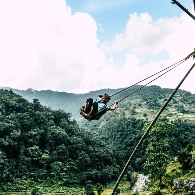 """Nepali Swing"" stock image"