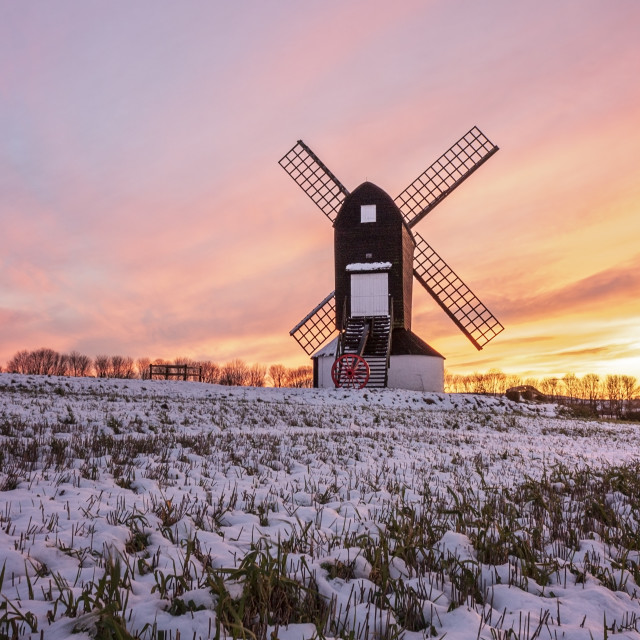 """Winter Windmill"" stock image"