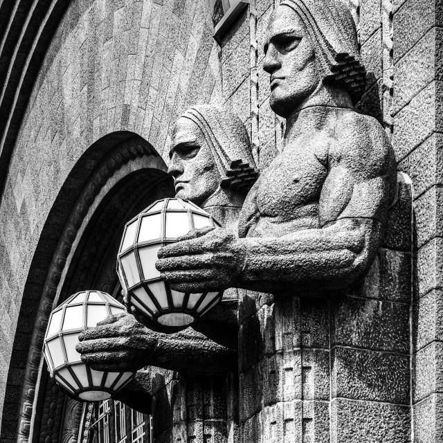 """The Stone Men - Helsinki"" stock image"