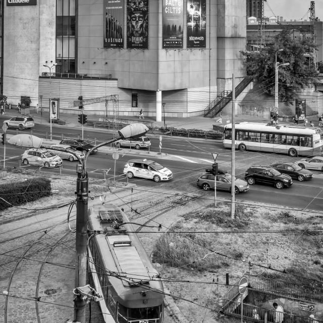 """""""Riga Rush Hour"""" stock image"""