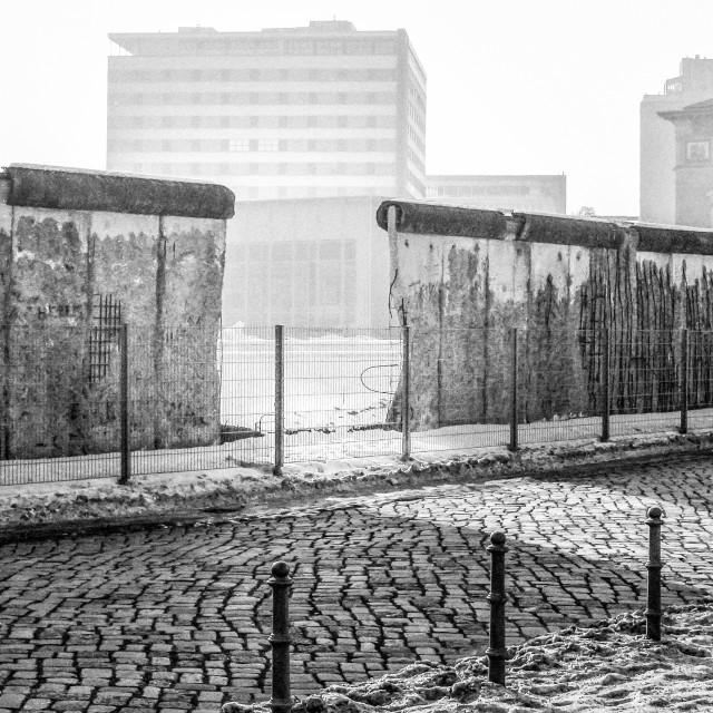 """A gap in the Berlin Wall"" stock image"