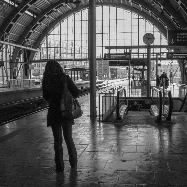 """Berlin Alexanderplatz station"" stock image"