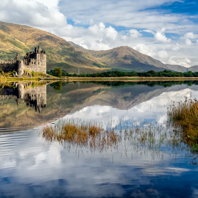 """Kilchurn Castle Ruins on Loch Awe, Scotland"" stock image"