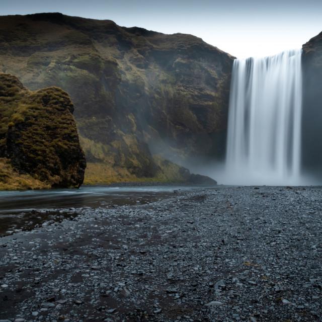 """""""Scogafoss Waterfall"""" stock image"""