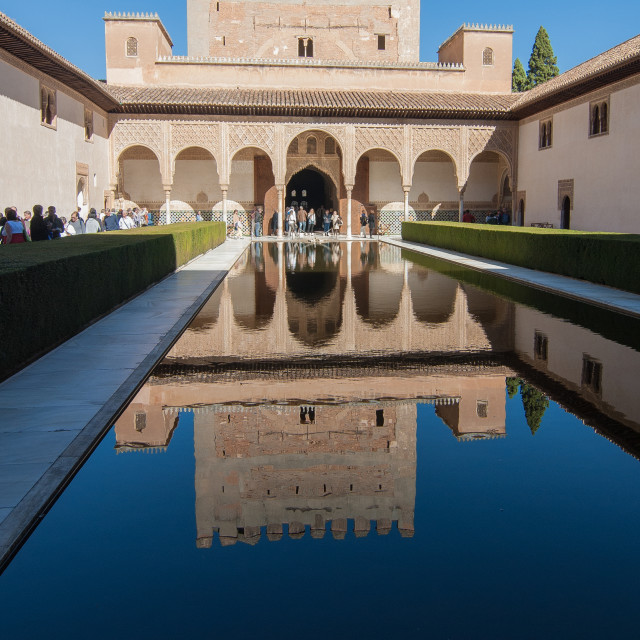 """Court of the Myrtles - Alhambra Palace, Spain"" stock image"
