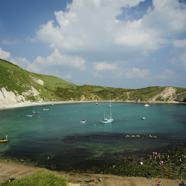 """Lulworth Cove"" stock image"