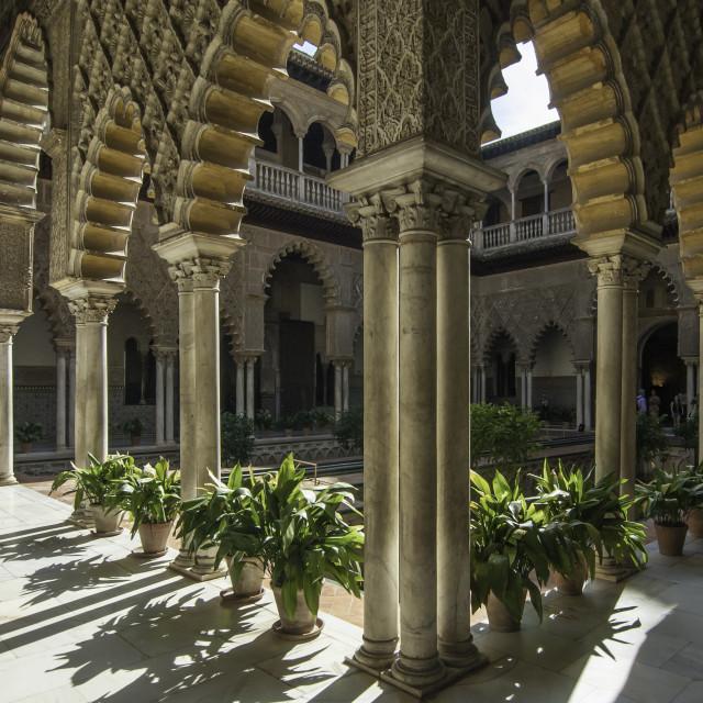 """Moorish Courtyard - Cordoba, Spain"" stock image"