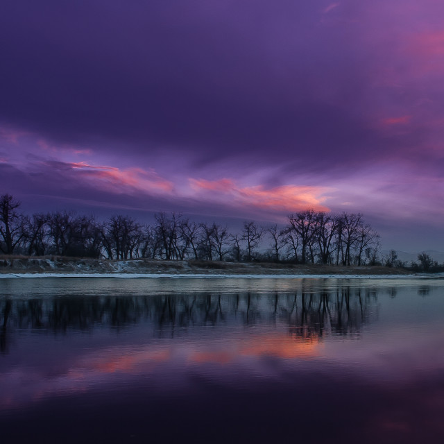"""Winter Reflections"" stock image"