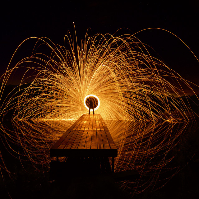 """Fire spin"" stock image"