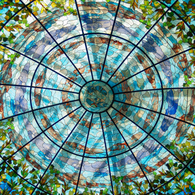 """Tiffany Glass Dome"" stock image"