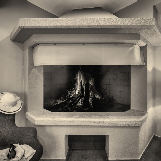 """""""Open home fireplace"""" stock image"""