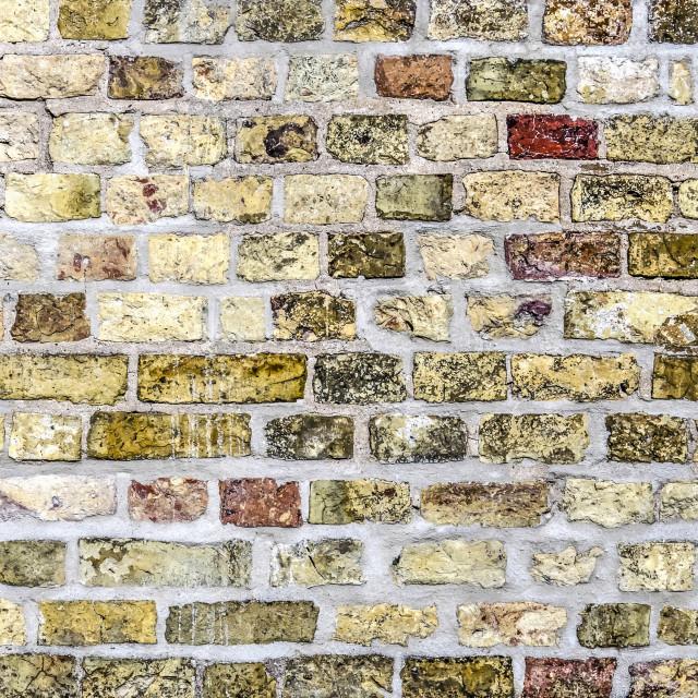 """Colorful brick wall"" stock image"