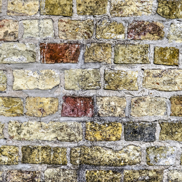 """""""close-up of a colorful brick wall"""" stock image"""