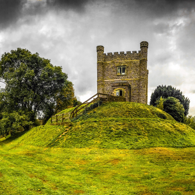 """The keep of Abergavenny Castle, Wales"" stock image"