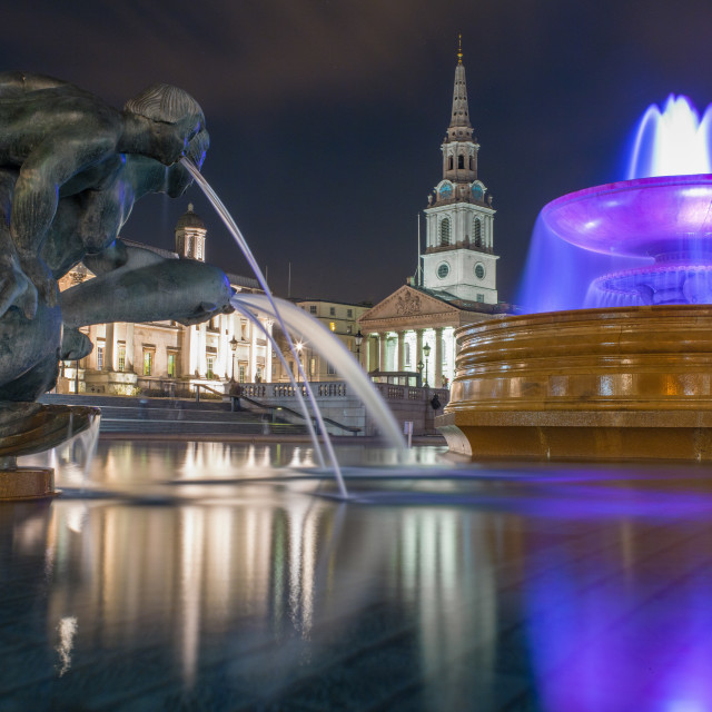 """Trafalgar Square and St Martin in the Fields"" stock image"
