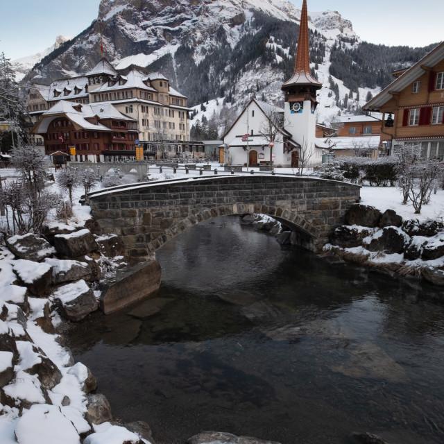 """Kandersteg, Switzerland"" stock image"
