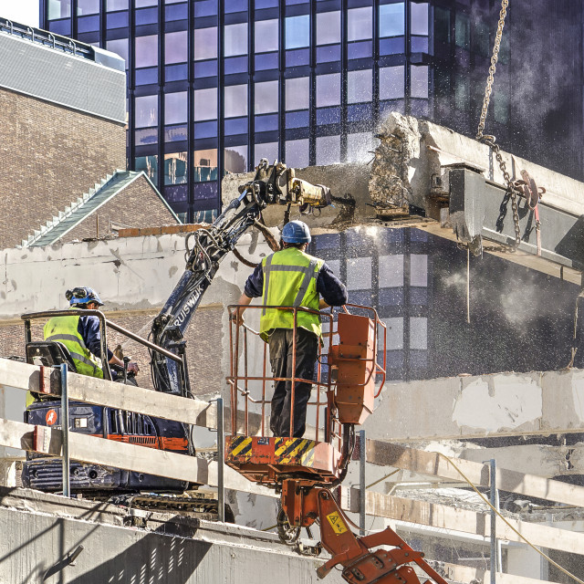"""""""Construction workers with jackhammer"""" stock image"""