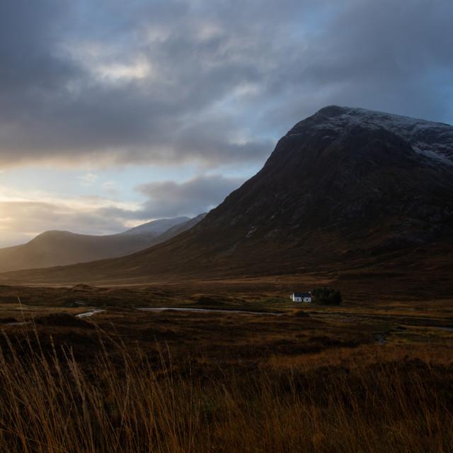 """""""Glencoe at sunrise"""" stock image"""