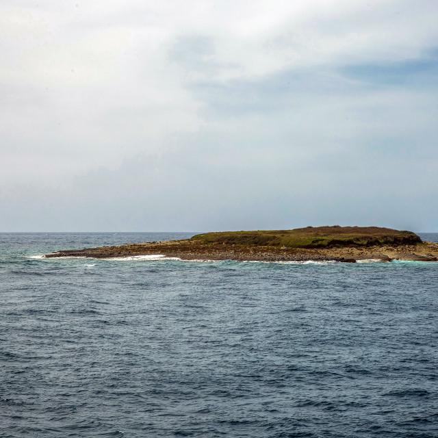"""""""Lighthouse Porer and Fenoliga island"""" stock image"""