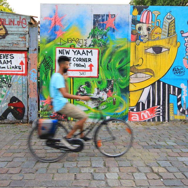 """Cycling in Berlin"" stock image"